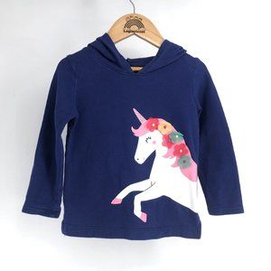 Girls Unicorn Hooded Top Hoodie Size 3T